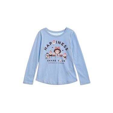 童裝可愛手繪風印花長袖T恤