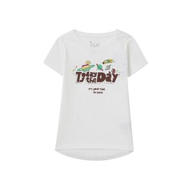 童裝SHINE圓襬印花T恤