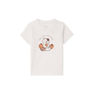 童裝可愛貓咪印花短袖T恤