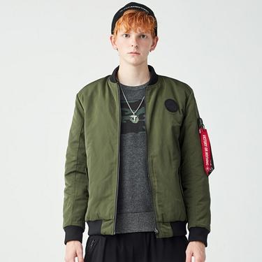 男裝VON橡膠徽章雙面穿鋪棉飛行外套