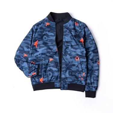 BSX 男裝素面迷彩雙面穿飛行外套