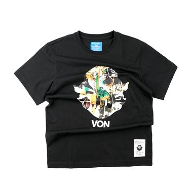 男裝VON頭像印地安印花T恤