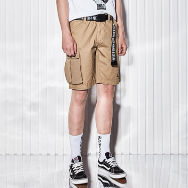 男裝VON字母腰帶印花工作褲