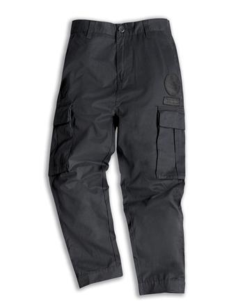 男裝素色布章口袋工作褲