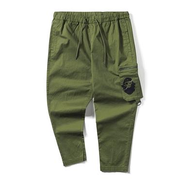男裝VON鬆緊腰可拆式工裝口袋休閒長褲