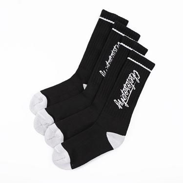 BSX運動風格底加厚長襪(兩雙入)