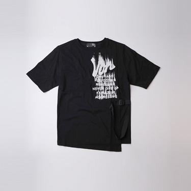 女裝VON側腰織帶字母印花T恤