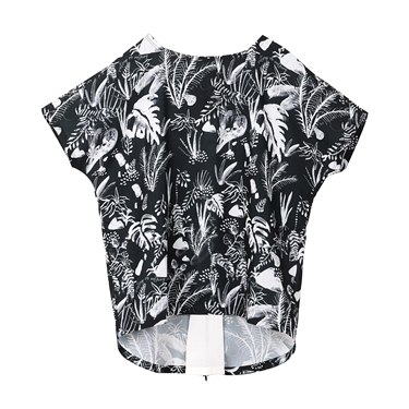 女裝VON印花拉鍊設計兩穿T恤