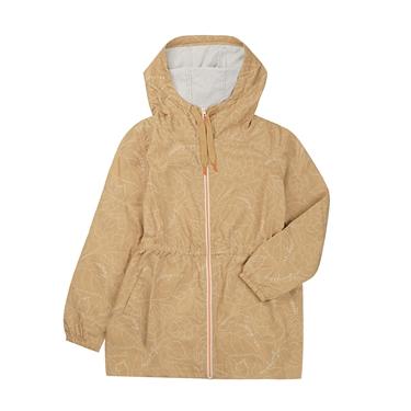 女裝VON印花輕薄防風防潑水收腰中長版外套