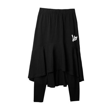 女裝VON印花魚尾緊身九分褲裙