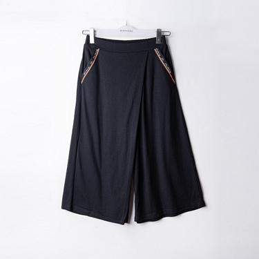 女裝VON造型感鬆緊腰八分寬褲