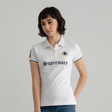 女裝桂冠獅頭刺繡POLO衫