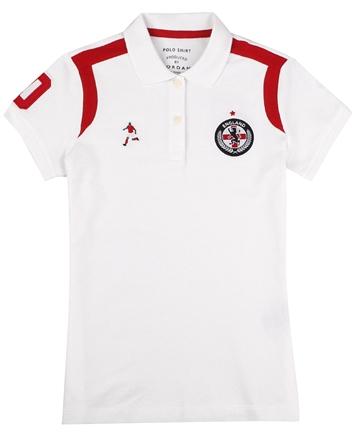 女裝足球系列立體徽章短袖POLO衫