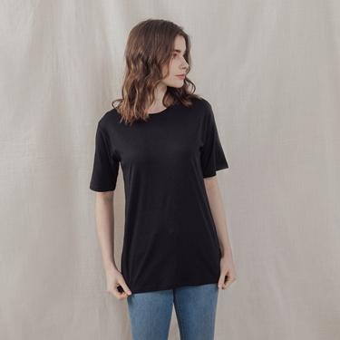 女裝寬版極簡素色T恤