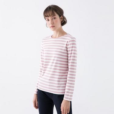 女裝純棉條紋T恤