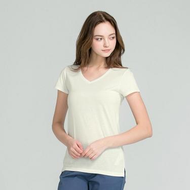 女裝好感百搭V領短袖T恤