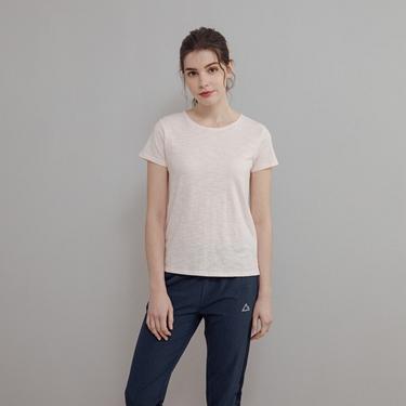 女裝素色竹節棉T恤