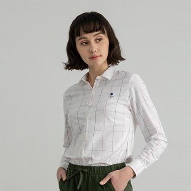 女裝四季百搭彈力牛津紡襯衫