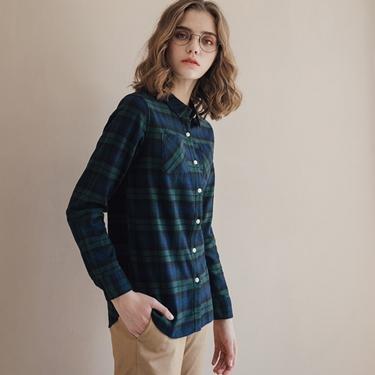 女裝法蘭絨溫暖磨毛長袖襯衫