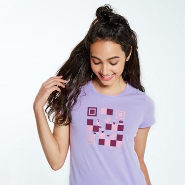 女裝英文標語印花短袖T恤