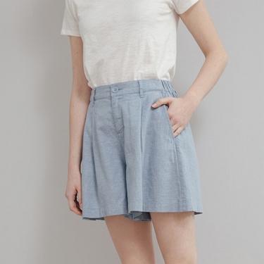 女裝後鬆緊寬鬆棉麻短褲