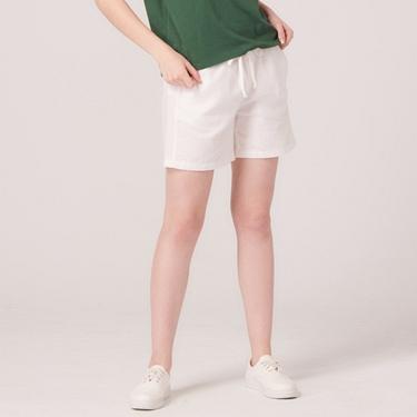 女裝棉麻抽繩休閒短褲