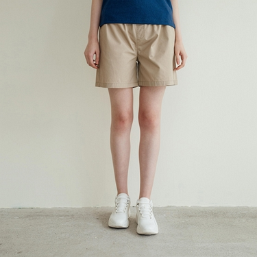 女裝純棉抽繩卡其休閒短褲