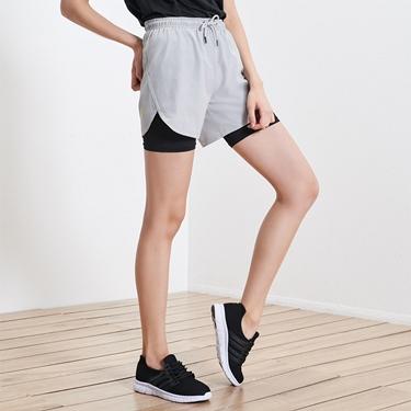 女裝3M抗污透氣撞色雙層運動短褲