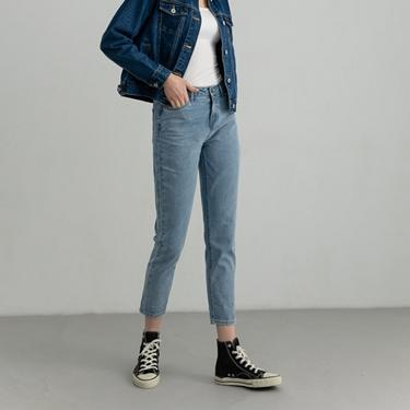 女裝純棉合身窄管牛仔褲