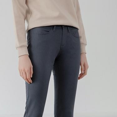 女裝中腰標準窄管休閒褲