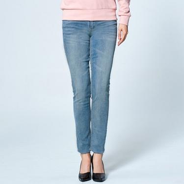 女裝刷色彈力緊身牛仔褲