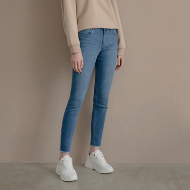 女裝中腰彈力修身窄管牛仔褲
