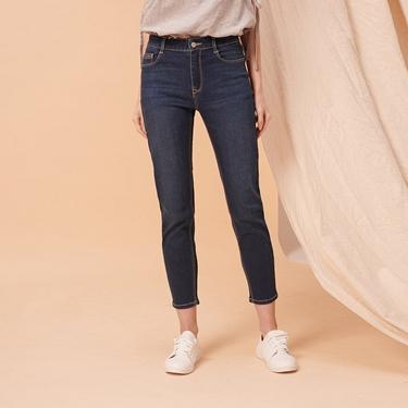女裝縲縈混紡中腰彈力貼身牛仔褲