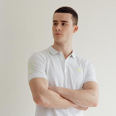 男裝駱駝數字刺繡POLO衫