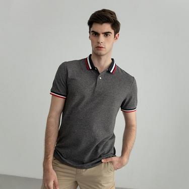 男裝素色線條POLO衫