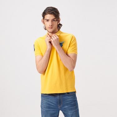 男裝麋鹿漸層刺繡短袖POLO衫