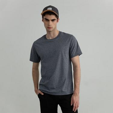 男裝素色修身圓領短袖T恤