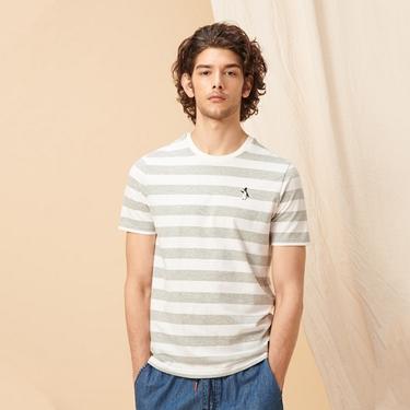 男裝圖案刺繡純棉短袖T恤