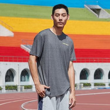 男裝運動系列吸濕排汗素色短袖T恤