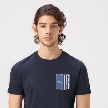 男裝LEARN N PLAY系列印花口袋T恤