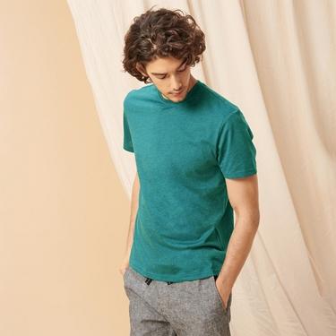 男裝百搭素色圓領T恤