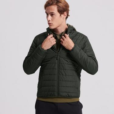 男裝輕量立領防寒鋪棉外套