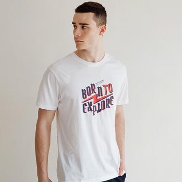 男裝復古印花短袖T恤
