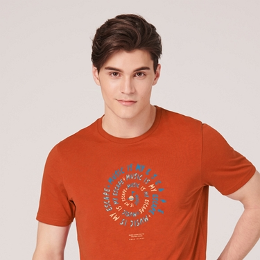 男裝MUSIC系列印花短袖T恤