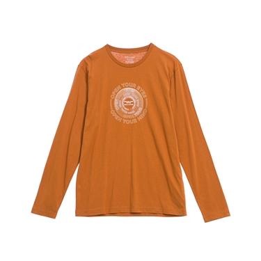 男裝EXPLORE FUTURE印花長袖T恤
