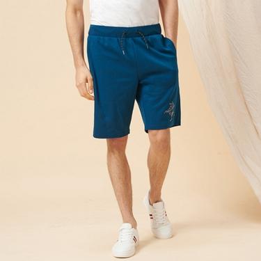 男裝拿破崙刺繡針織短褲