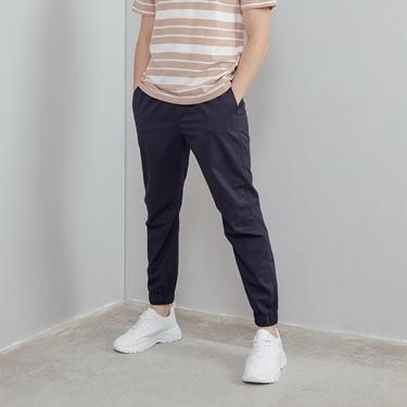 男裝純棉素色束口褲
