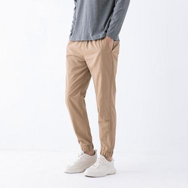 男裝素色抽繩束口褲