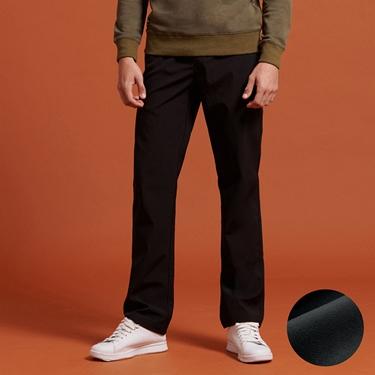 男裝內刷毛腰鬆緊抽繩保暖防風長褲