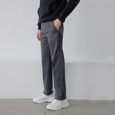 男裝中腰基本款彈性卡其長褲